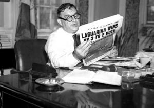 Fiorello LaGuardia dopo la rielezione a sindaco di New York