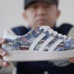 Nigo mostra la scarpa disegnata per Adidas