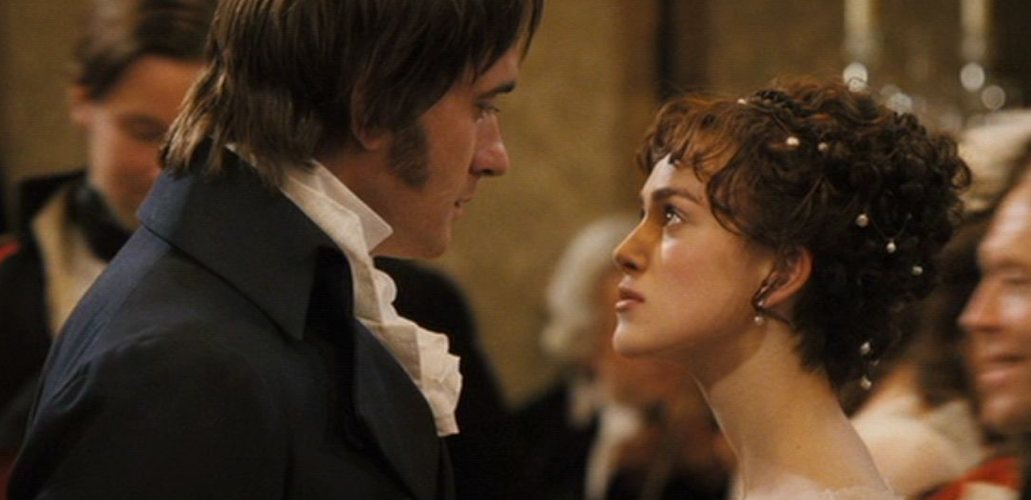 Una scena della più celebre e recente riduzione cinematografica di Orgoglio e pregiudizio, quella con Keira Knightley