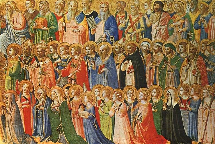 Tutti i santi in una pala del Beato Angelico conservata alla National Gallery di Londra