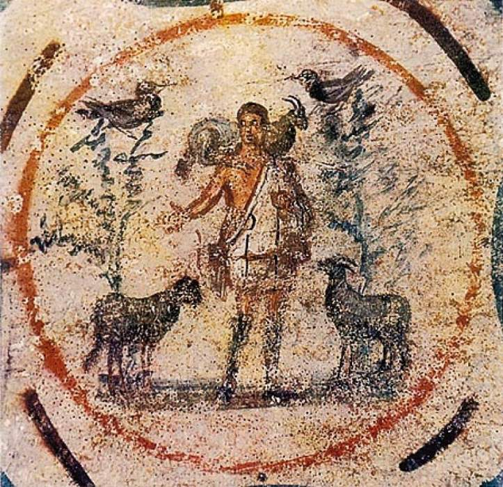 L'affresco del Buon Pastore alle Catacombe di Priscilla