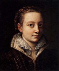 """""""Ritratto di Minerva Anguissola"""" ad opera della sorella Sofonisba, ma forse, in realtà, un autoritratto della stessa artista"""