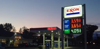 Un distributore Exxon (foto di Mike Mozart via Flickr)