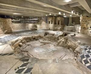 I resti del Battistero di San Giovanni alle Fonti a Milano