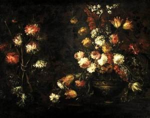 """""""Natura morta con vaso di fiori"""", bel quadro di Margherita Caffi"""