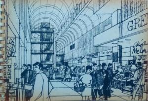 I disegni degli anni '60 del centro commerciale di Cambridge
