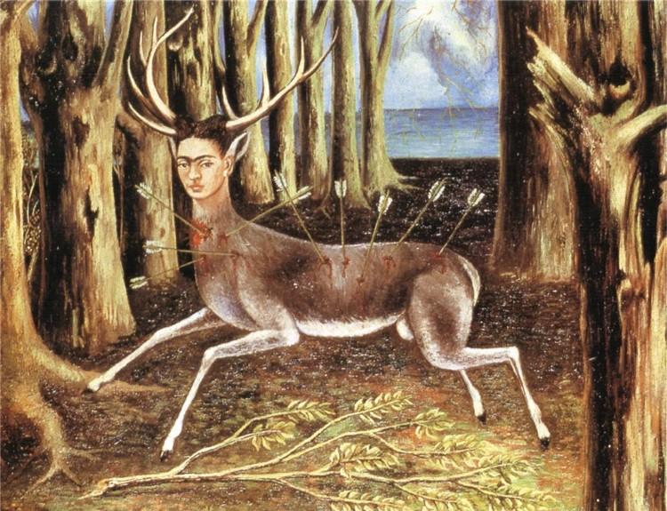 """""""Il cervo ferito"""", uno dei quadri più belli e famosi di Frida Kahlo"""