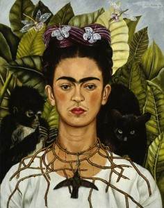 """Autoritratto con collana di spine e colibrì"" di Frida Kahlo"