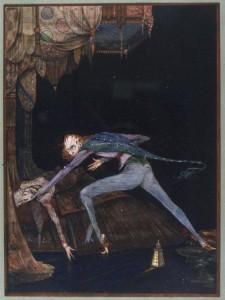 """Illustrazione del 1919 di Harry Clarke per """"Il cuore rivelatore"""""""