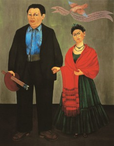 """""""Frida e Diego Rivera"""" ritratti dalla Kahlo nel 1931"""