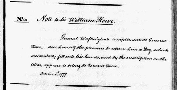 General Howe S Dog Letter