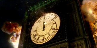 Le esplosioni che coinvolgono il Big Ben in V per Vendetta, uno dei più bei film ambientati a Londra