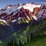 Le montagne del parco nello stato di Washington