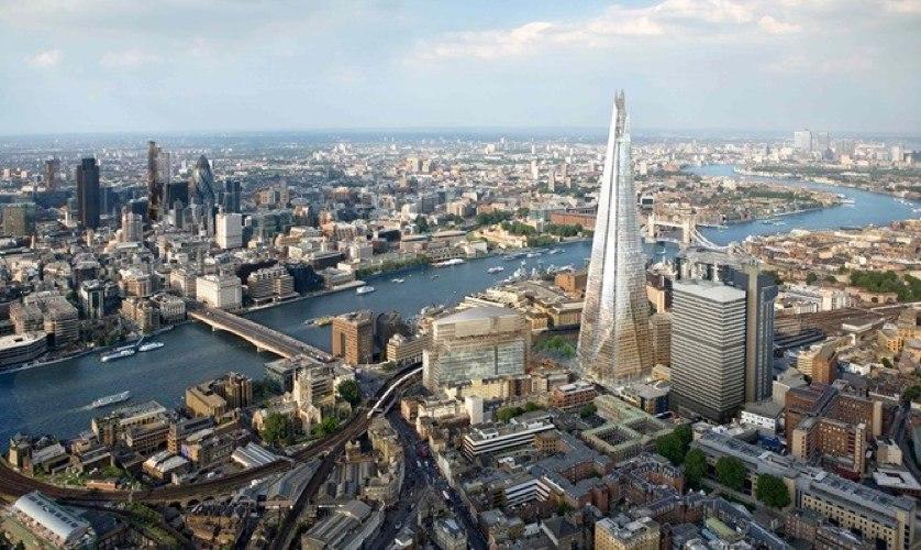 Il quartiere del London Bridge a Londra, profondamente rinnovato dai progetti di Renzo Piano