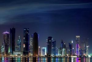 Lo skyline di Doha, capitale del Qatar