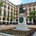 Plaça Independència a Girona