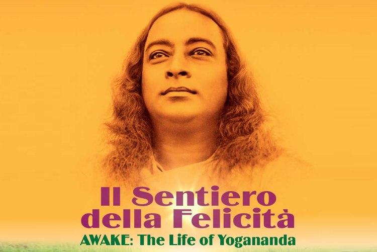 Il manifesto del film Il sentiero della felicità sulla vita di Yogananda