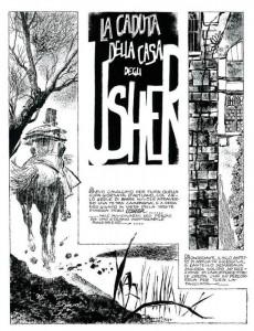 """Versione a fumetti di Dino Battaglia de """"La caduta della casa Usher"""""""