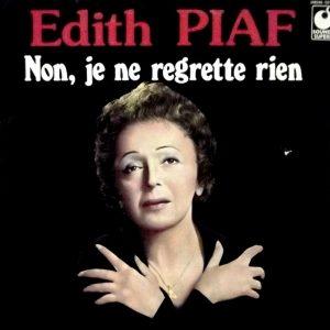 Édith Piaf sulla copertina di Non, je ne regrette rien