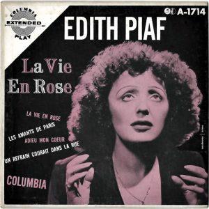 Édith Piaf sulla copertina di una delle edizioni di La vie en rose