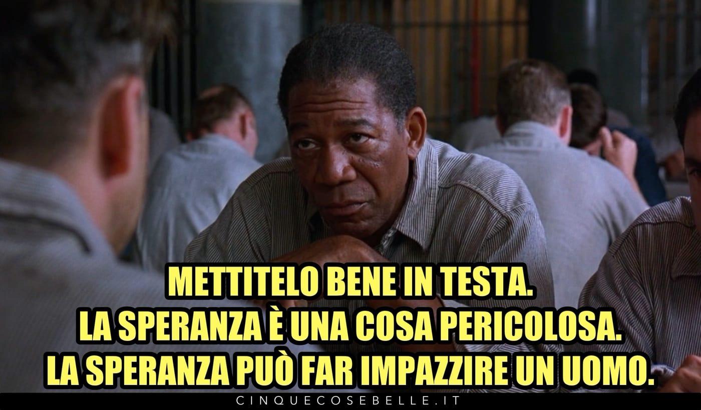 Morgan Freeman in Le ali della libertà