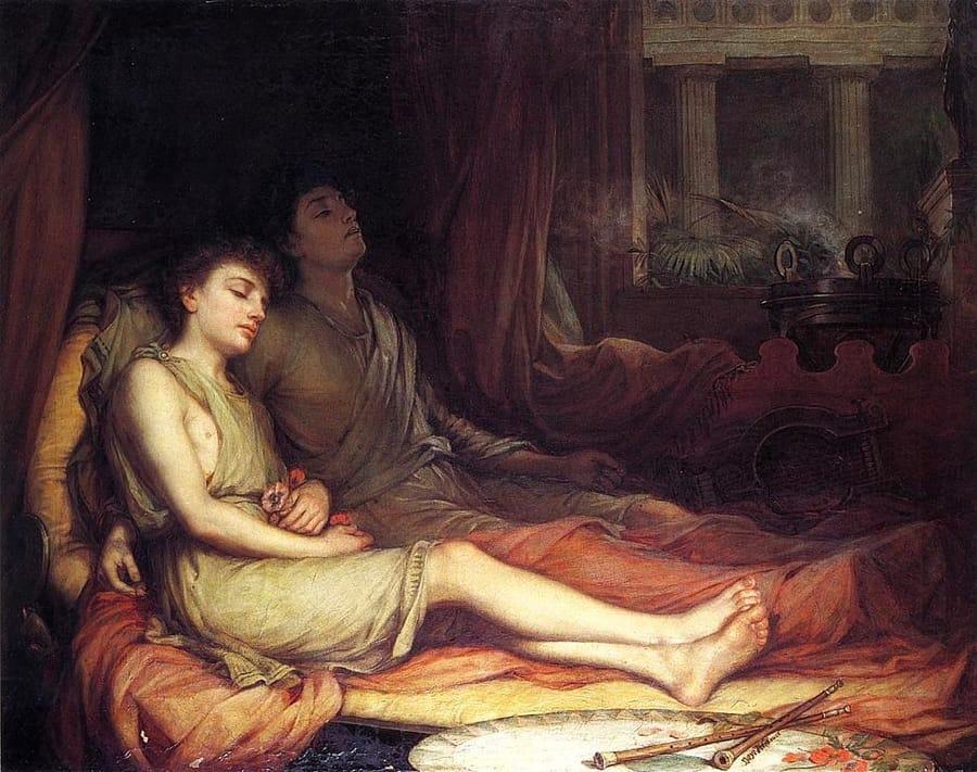 Ipno e Thanatos in un dipinto di John William Waterhouse