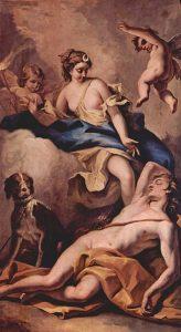 Selene e Endimione in un dipinto di Sebastiano Ricci