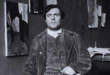 Amedeo Modigliani – uno dei più celebri ebrei italiani di inizio Novecento – nel suo studio a Parigi