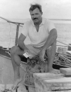 Ernest Hemingway a pesca