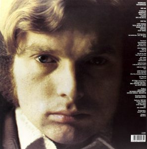 Van Morrison in gioventù, sul retro della copertina di Moondance