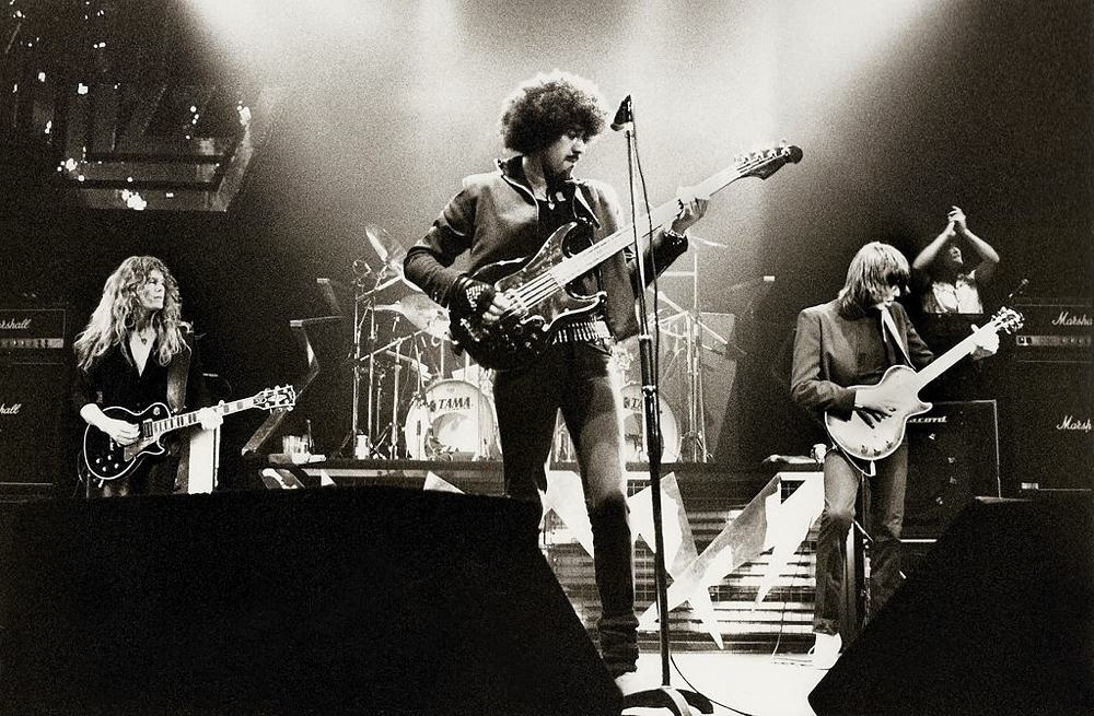 I Thin Lizzy nel 1983 (foto di Harry Potts via Flickr)