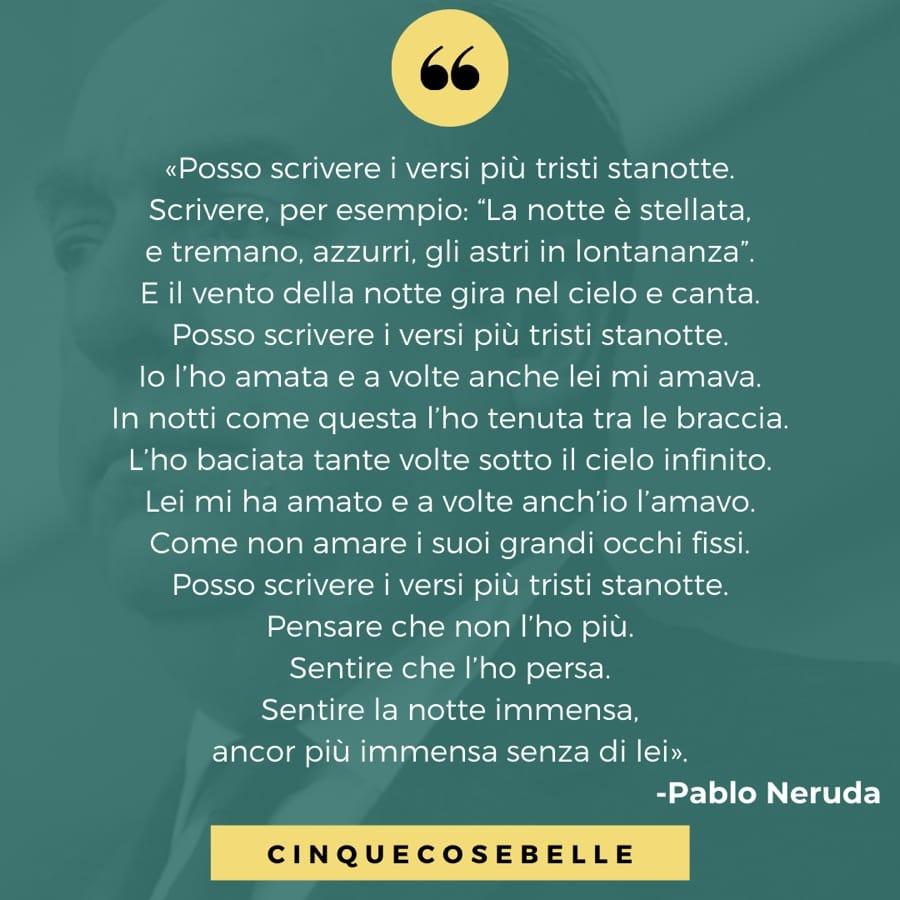 La poesia sulla notte di Pablo Neruda