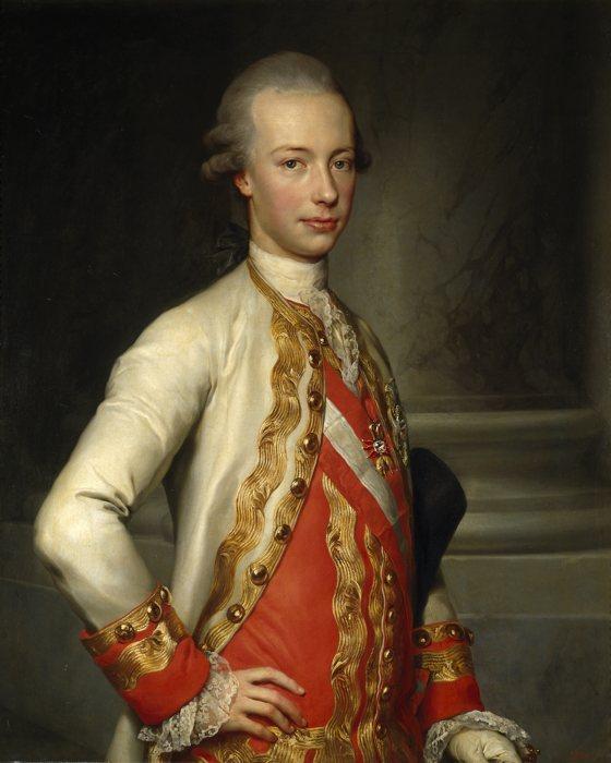 Pietro Leopoldo ritratto da Anton Raphael Mengs