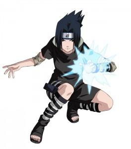 Uchiha Sasuke, uno dei principali protagonisti del fumetto di Naruto