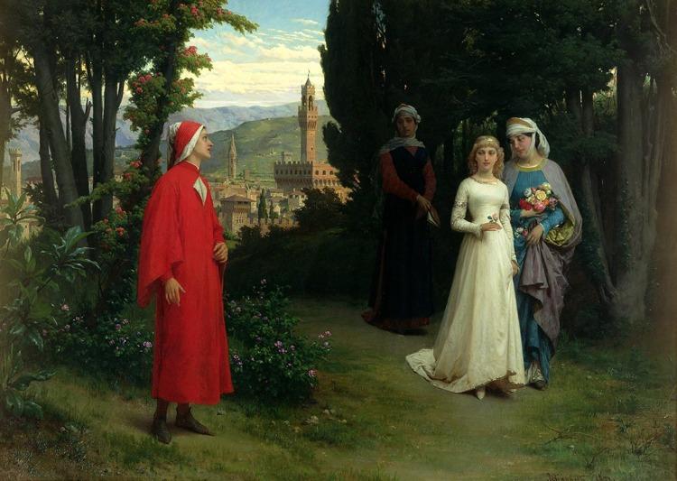Il primo incontro di Dante e Beatrice secondo Raffaele Giannetti