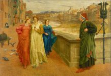 Dante e Beatrice, quadro di Henry Holiday