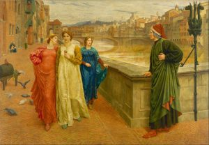 Dante e Beatrice, quadro di Henry Holiday