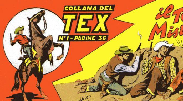 Particolare del primo numero a striscia di Tex, uno dei fumetti-simbolo degli anni '50