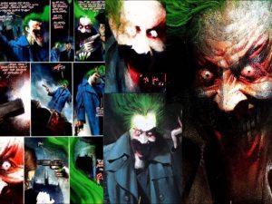 """Il Joker di """"Arkham Asylum"""" mentre racconta la sua macabra barzelletta"""
