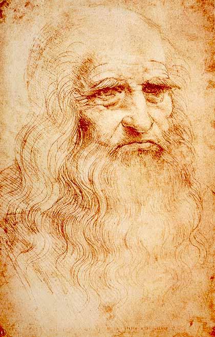 L'autoritratto realizzato da Leonardo negli ultimi anni della sua vita