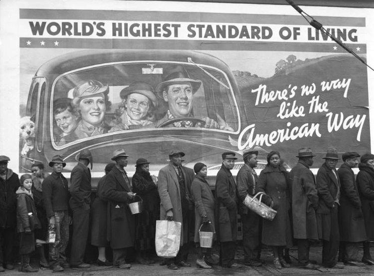 Kentucky Flood, celebre foto di Margaret Bourke-White, una delle più grandi fotografe americane del Novecento
