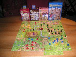 Il tabellone completo di Carcassonne