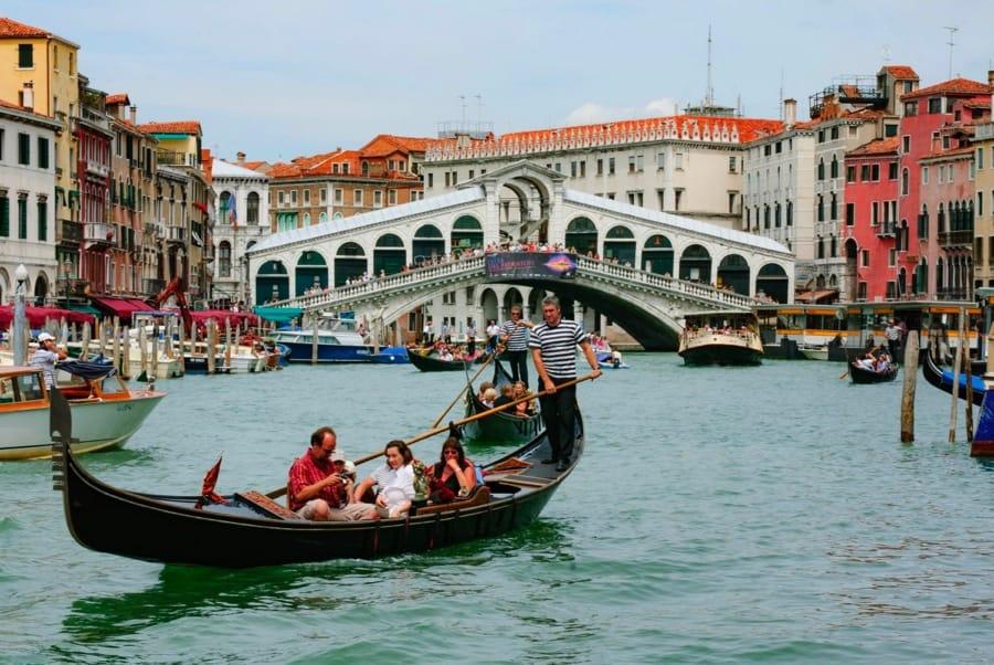 Venezia col ponte di Rialto