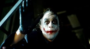 Heath Ledger nei panni di Joker