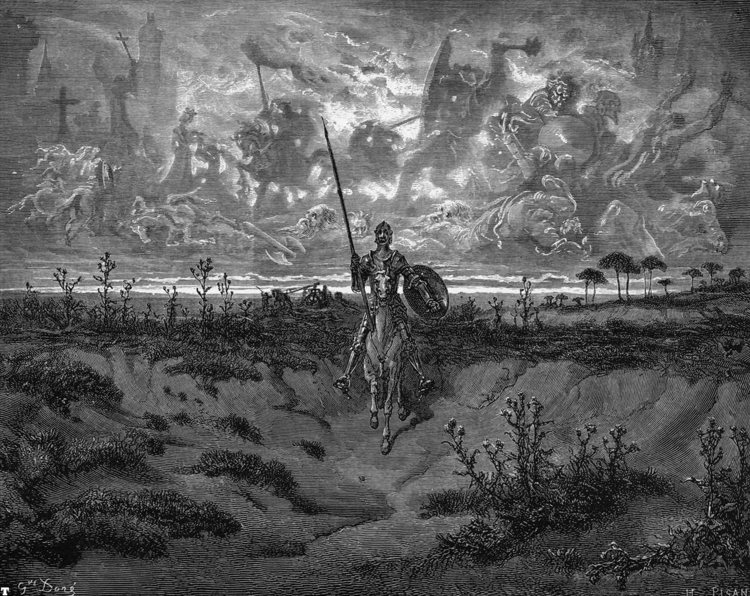 Don Chisciotte in un'illustrazione di Gustave Doré