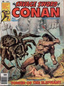 """Adattamento apparso su Savage Sword of Conan de """"La torre dell'elefante"""""""