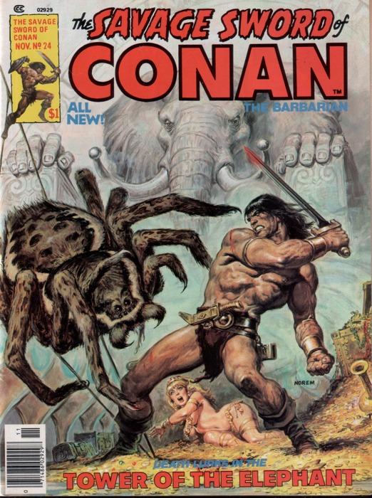 Adattamento apparso su Savage Sword of Conan de La torre dell'elefante