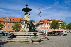 La Piazza del mercato di Erlangen