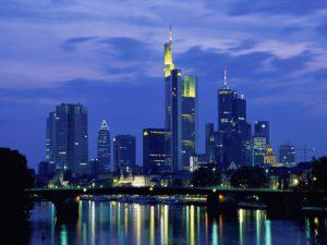 Lo skyline di Francoforte sul Meno