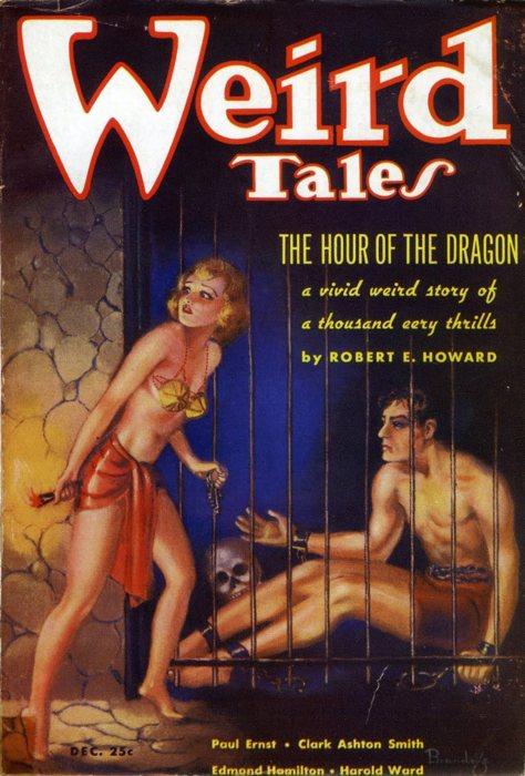 Il numero di Weird Tales in cui fu pubblicato L'ora del drago